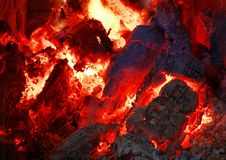 Red hot coals Stock Photography