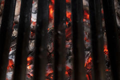Red hot coals Royalty Free Stock Photos
