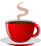 Red hot Coffee Cup Stock Image