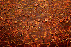 Red hot cracked earth Royalty Free Stock Images