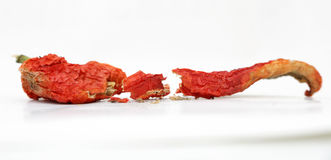 Red hot dried pepper Stock Photos