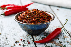 Red hot dry pepper Stock Photos