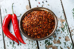 Red hot dry pepper Royalty Free Stock Photos