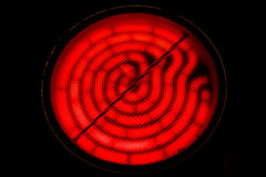 Red hot electric coil Stock Photo