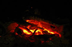 Red and hot embers Stock Photography