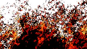 Red hot fire abstract pattern. With white background Royalty Free Stock Images
