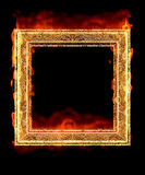 Red hot fire frame. Great image of picture frame red hot and on fire Stock Image