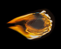 Red Hot Flaming Baseball Royalty Free Stock Image