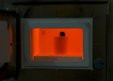 Red hot furnace for all kinds of casting molds. stock images