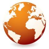 Red hot globe Stock Photo
