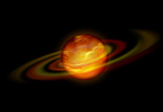 Red hot glowing planet Stock Photos