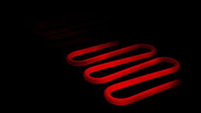 Red hot heating element  Stock Photography