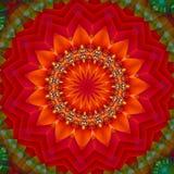 Red hot juicy fruit 2. Digitally created multicolor mandala illustartion/background Royalty Free Stock Image