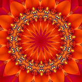 Red hot juicy fruit. Digitally created multicolor mandala illustartion/background Royalty Free Stock Photos