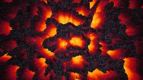 Red-hot lava magma background, abstract 3D illustration wallpaper, dark matter, way to hell, halloween Stock Photos