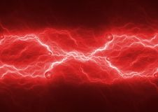 Red hot lightning,. Abstract electrical plasma stock photos