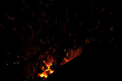Red hot lines sparks on a black background Royalty Free Stock Image