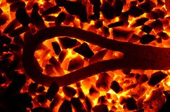 The red-hot metal loop. Stock Photography