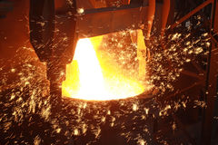 Red-hot molten steel Royalty Free Stock Photography