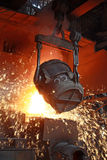Red-hot molten steel Stock Photography