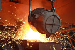 Red-hot molten steel Royalty Free Stock Photos