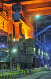 Red-hot molten steel Stock Images