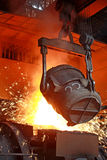 Red-hot molten steel Royalty Free Stock Photo