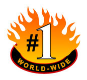 Red hot number one Stock Images