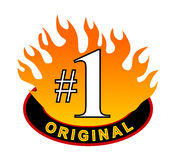 Red hot number one original Royalty Free Stock Photos