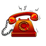 Red hot old phone pop art vector illustration Royalty Free Stock Photography