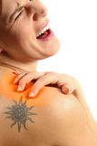 Red Hot Pain Royalty Free Stock Image