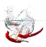 Red Hot Paprika In Water Stock Photo