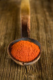 Paprika powder on spoon Stock Photography