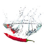 Red hot paprika in water Stock Images