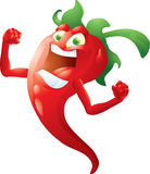 Red hot pepper isolated Royalty Free Stock Images