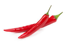 Red hot pepper isolated on white background Royalty Free Stock Images