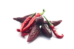 Red Hot Peppers isolated on white Stock Photography