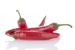 Red hot peppers Stock Photography
