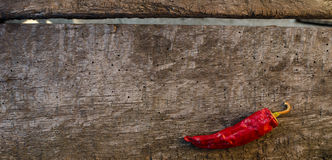 Red hot peppers on wooden Royalty Free Stock Photo