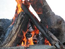 Red Hot Perfect Camp Fire Royalty Free Stock Photography
