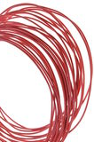Red hot power cable Stock Photos