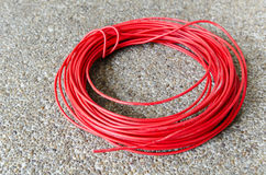 Red hot power cable Royalty Free Stock Image