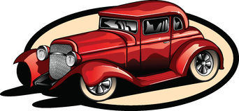 Red hot rod. vector illustration