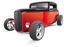 Red hot rod. Vectorial image of red hot rod, isolated on white background. Contains gradients and blends Royalty Free Stock Images