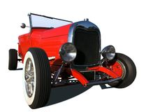 Red Hot Rod. On a white background stock image
