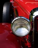Red Hot rod. Headlight of a red hot rod Royalty Free Stock Photo