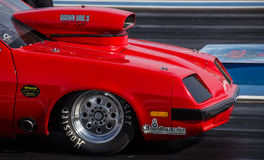 Red Hot Rod at the Drags Stock Photos