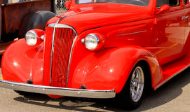 Red Hot Rod II. Image (close up) of a red hot rod at a car show Royalty Free Stock Photography
