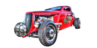 Red hot rod isolated on white background Royalty Free Stock Photography