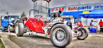 Red hot rod Stock Photography
